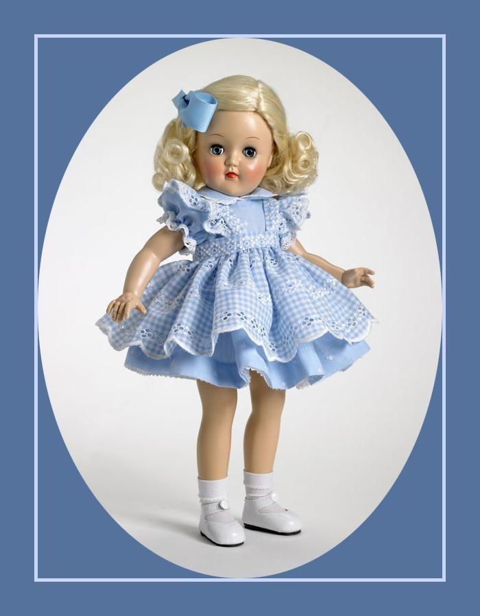"""TONI TEA TIME DOLL - Toni® was an instant American Classic when she was first introduced to children in 1949. Toni® endured through the ages.  Today, Robert Tonner has reintroduced Toni® as a 14"""" hard plastic. Toni® is a recreation of the original P-90 14"""" Toni® as originally manufactured by Ideal."""