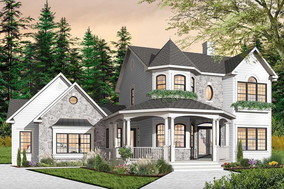 Plan 21561dr Beatiful Veranda Design Victorian House Plans Victorian Homes Modern Victorian Homes