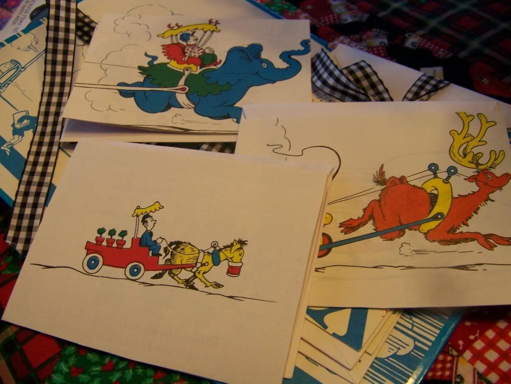 childrens' vintage book note card set