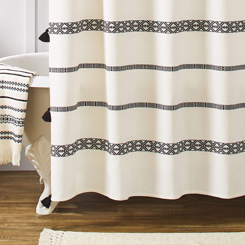 Better homes gardens boho chic cotton shower curtain