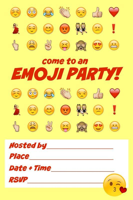 Ultimate emoji party idea guide Snacks crafts activities more – Teenage Girl Birthday Invitations Free Printable