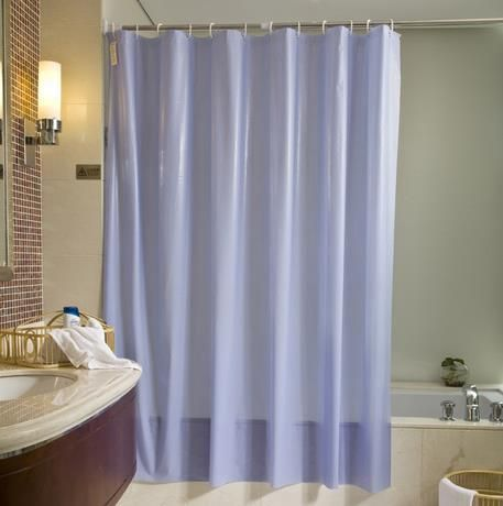180 180cm Pvc Shower Curtains Thicken Waterproof Mildew Proof Bath Curtain Blue Sold Color Home Bathroom Cu With Images Blue Shower Curtains Contemporary Shower Pvc Shower
