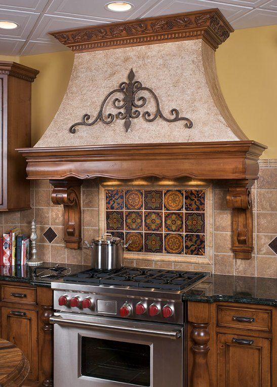 Kitchen Range Hood Wood