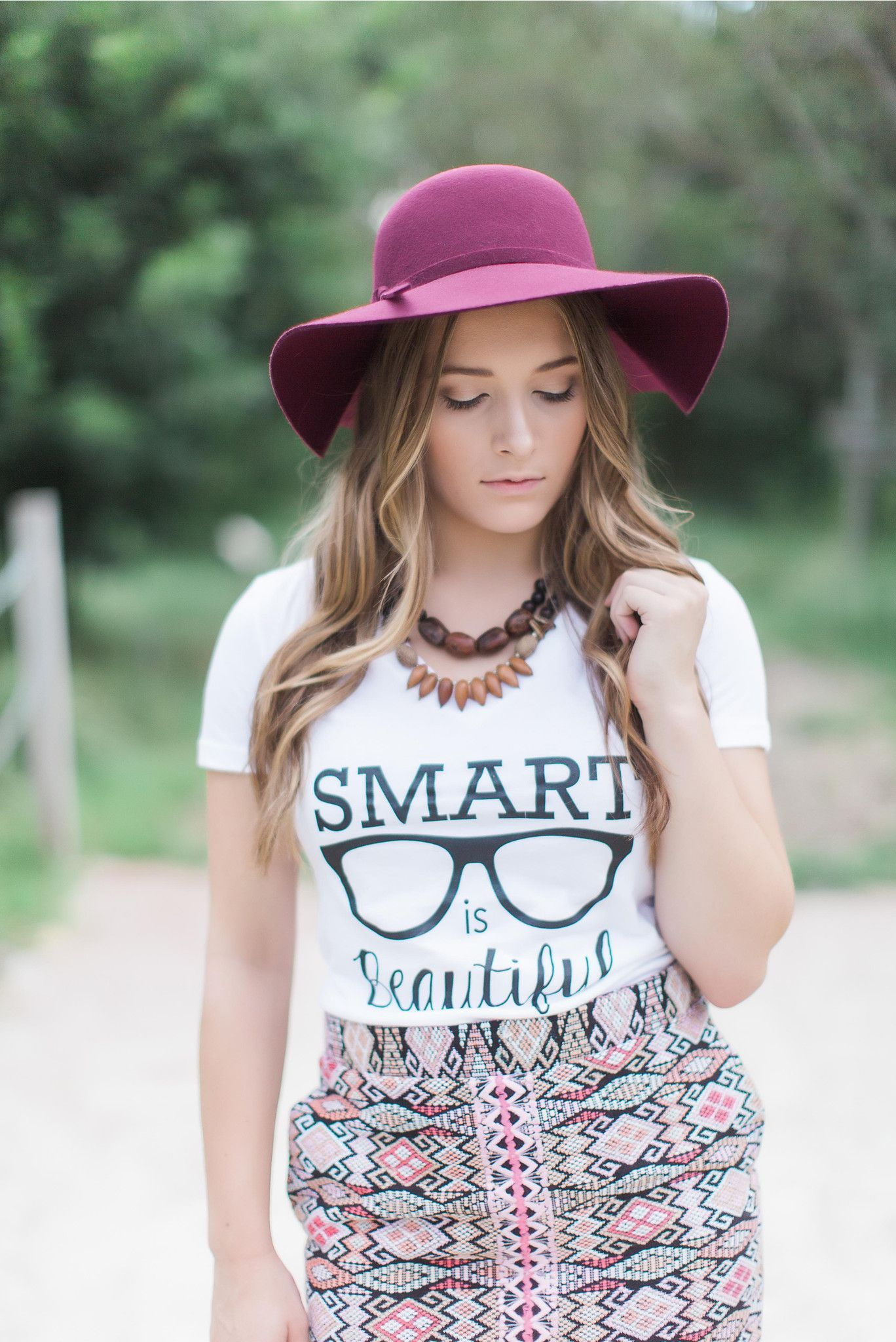 Smart Is Beautiful Nerd Girl V Neck Tee From 4 All Humanity