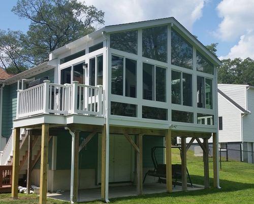 Chelmsford Ma 3 Season Sunroom On Existing Deck Sunrooms