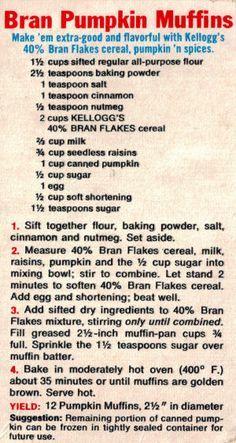 Kellogg's Bran Pumpkin Muffins Recipe #pumpkinmuffins