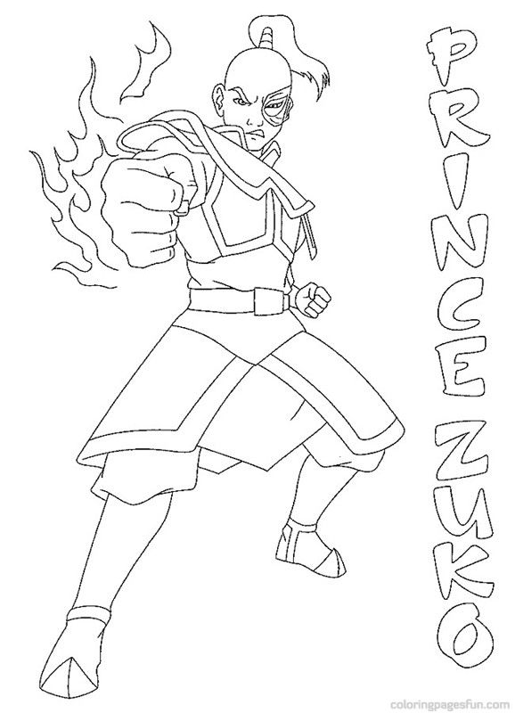 Avatar The Last Airbender Coloring Pages 12 Cartoon Coloring