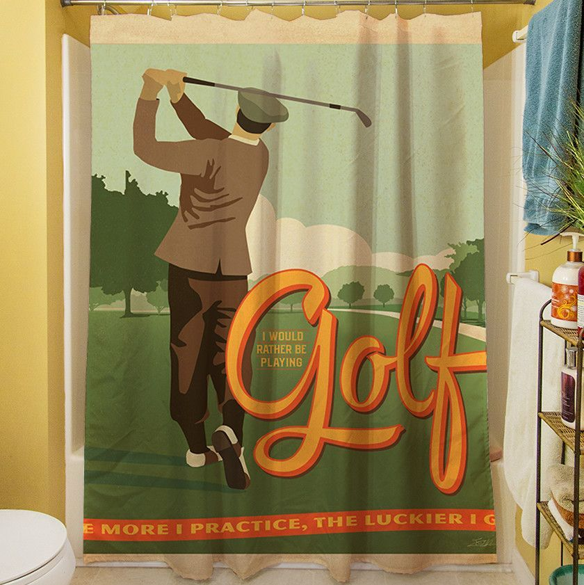Golf Bad Day Shower Curtain Shower Curtain Curtains Golf Theme