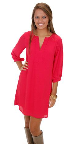 Classic Tunic Dress, Red :: NEW ARRIVALS :: The Blue Door ... - photo #4