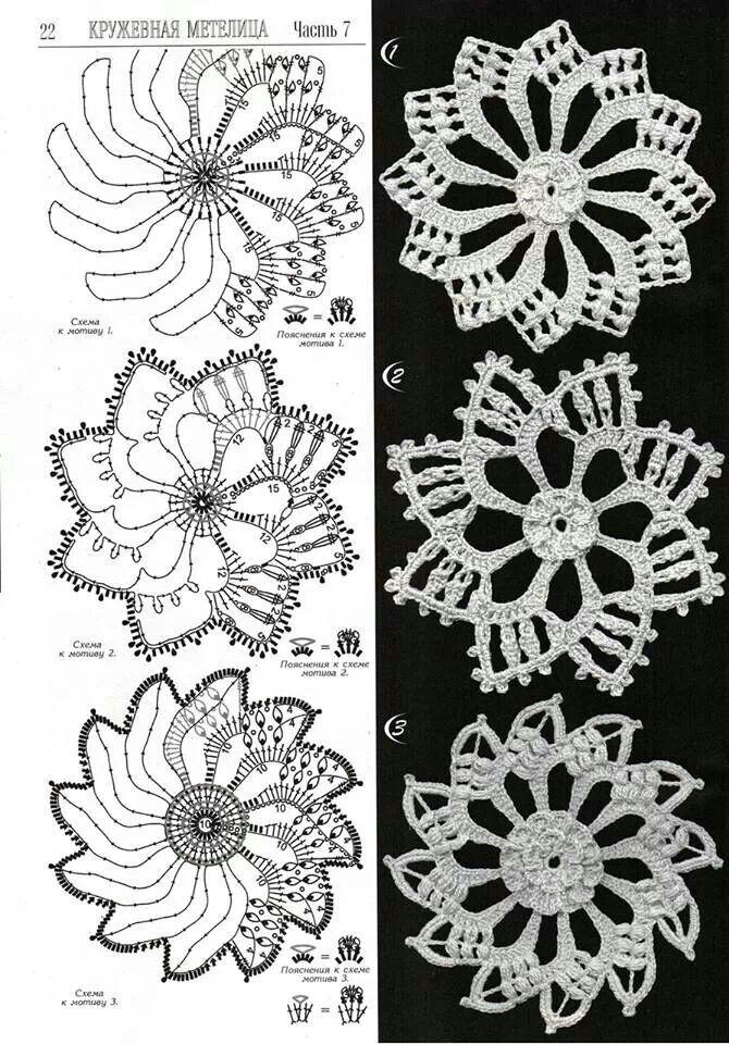 Motivos   Crochet Lace   Pinterest   Häkeln anleitung, Muster und ...