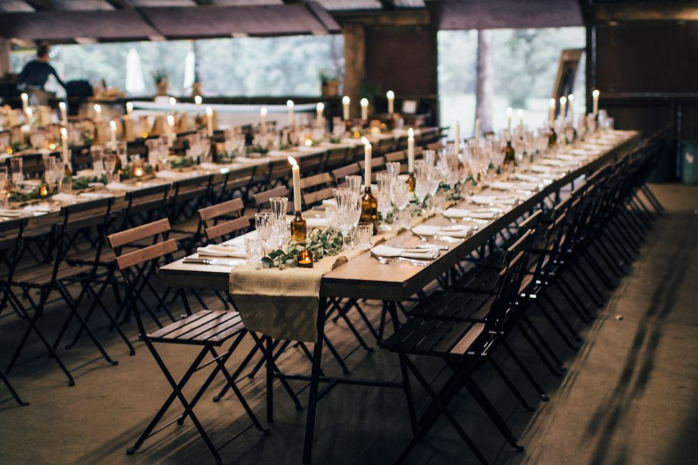 Hampton Event Hire / French Bistro Chairs / Long Wooden