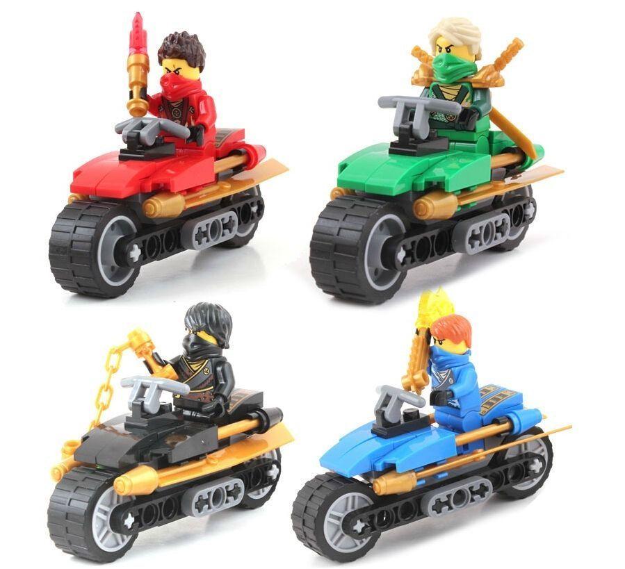 6pcs Ninjagoes Motorcycle Building Blocks Compatible Legoing Ninja Mini Action Kai Jay Figures Bricks Toys For Children Blocks Toys & Hobbies