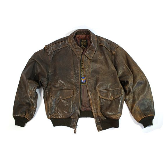 Vintage Avirex A2 Leather Flight Bomber Jacket by othernessdesign ...
