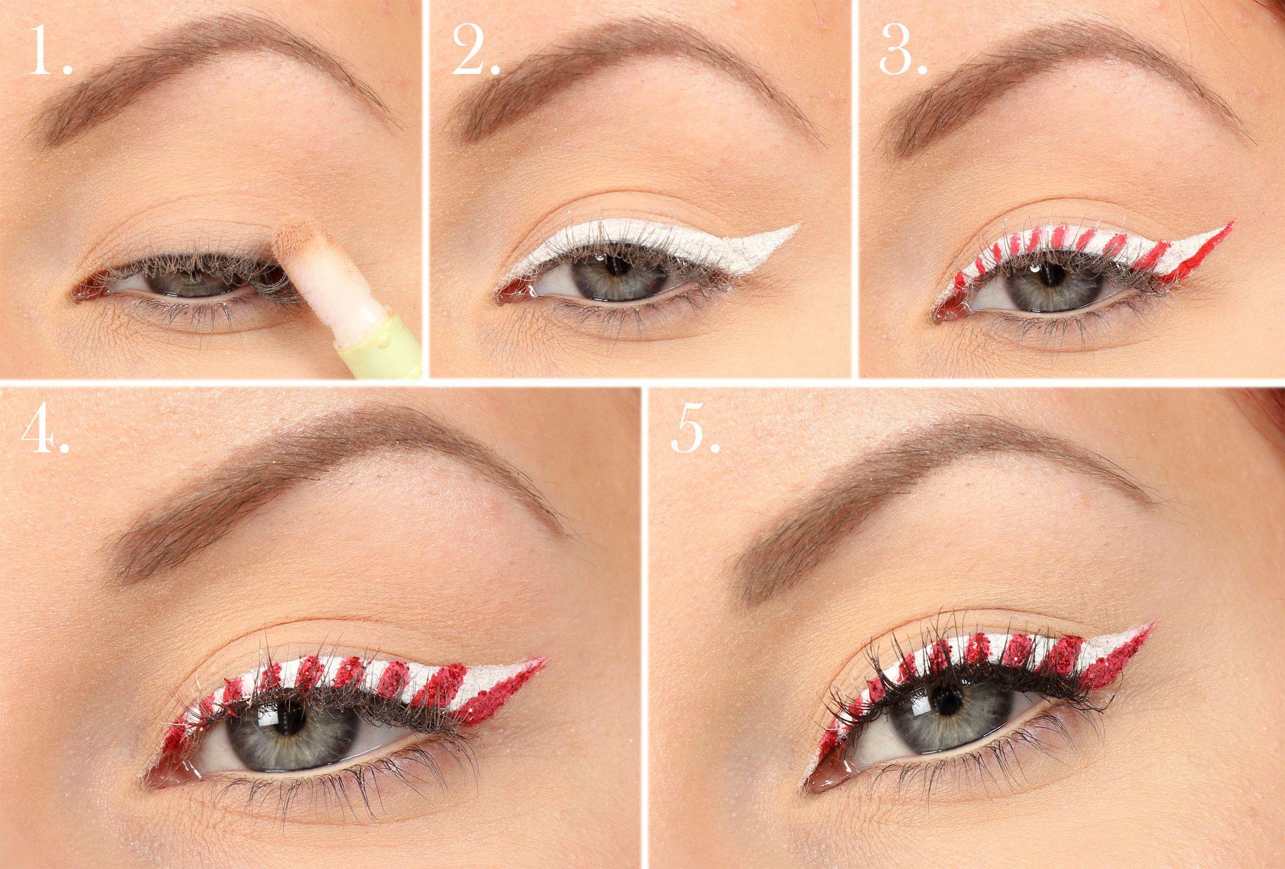 Candy cane eyeliner in 2020 Candy cane eyeliner