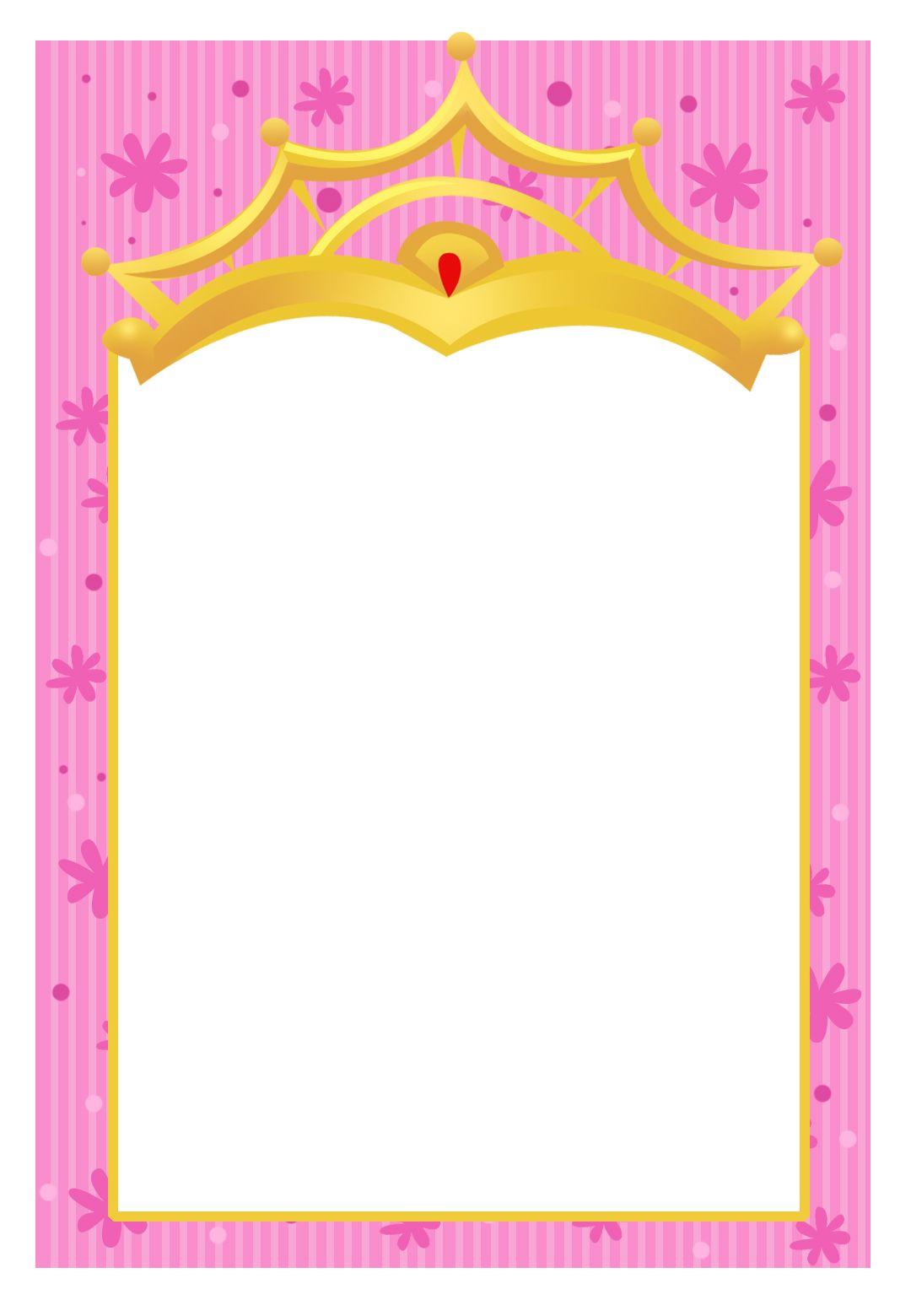printable a little princess invitation