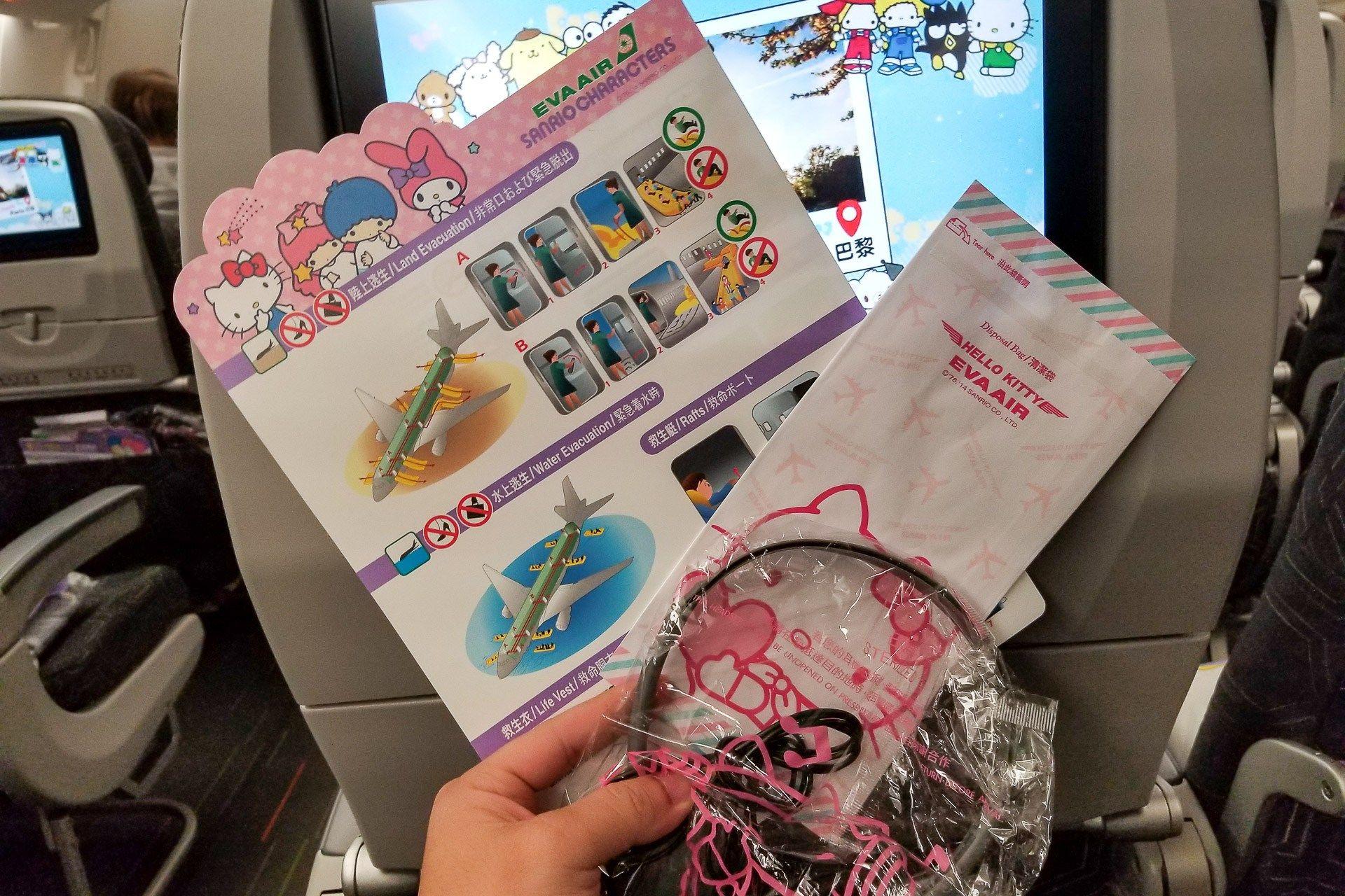 Flight Review EVA Air Hello Kitty (777300ER) Economy