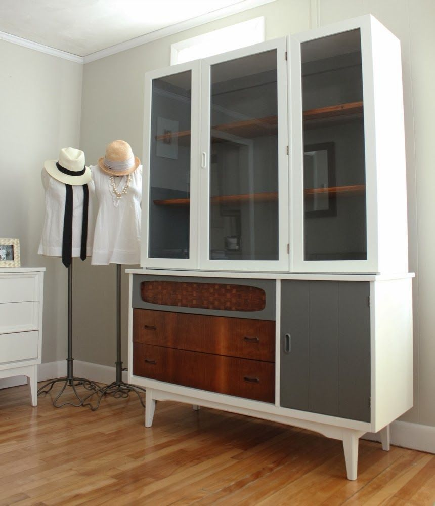 Distressed Cherry Contemporary Formal Buffet w/Optional Hutch