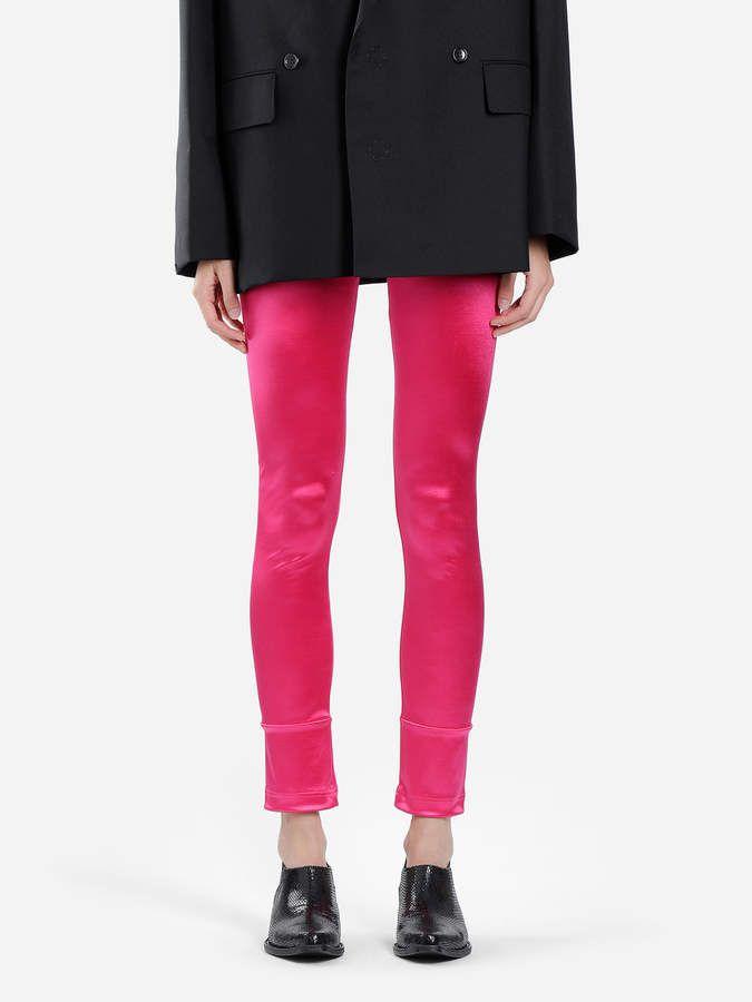 fe3ea2e01d293 Leggings #SATIN#STRETCH#LEGGINGS Junya Watanabe, Pink Satin, Pink Ladies,