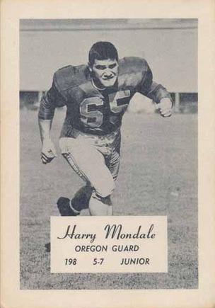 1956 Oregon Junior Guard Harry Mondale Www Sportingoregon Com Junior Guard Baseball Cards