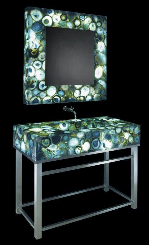 Fun And Funky Bathroom Vanity Mirror Design