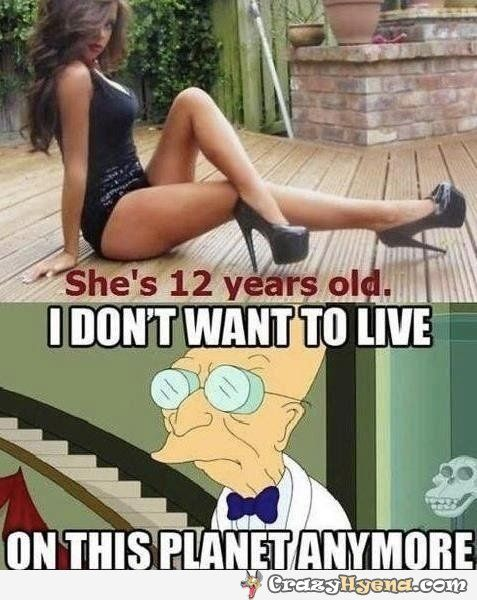 Girls at twelve acting like women, funny picture