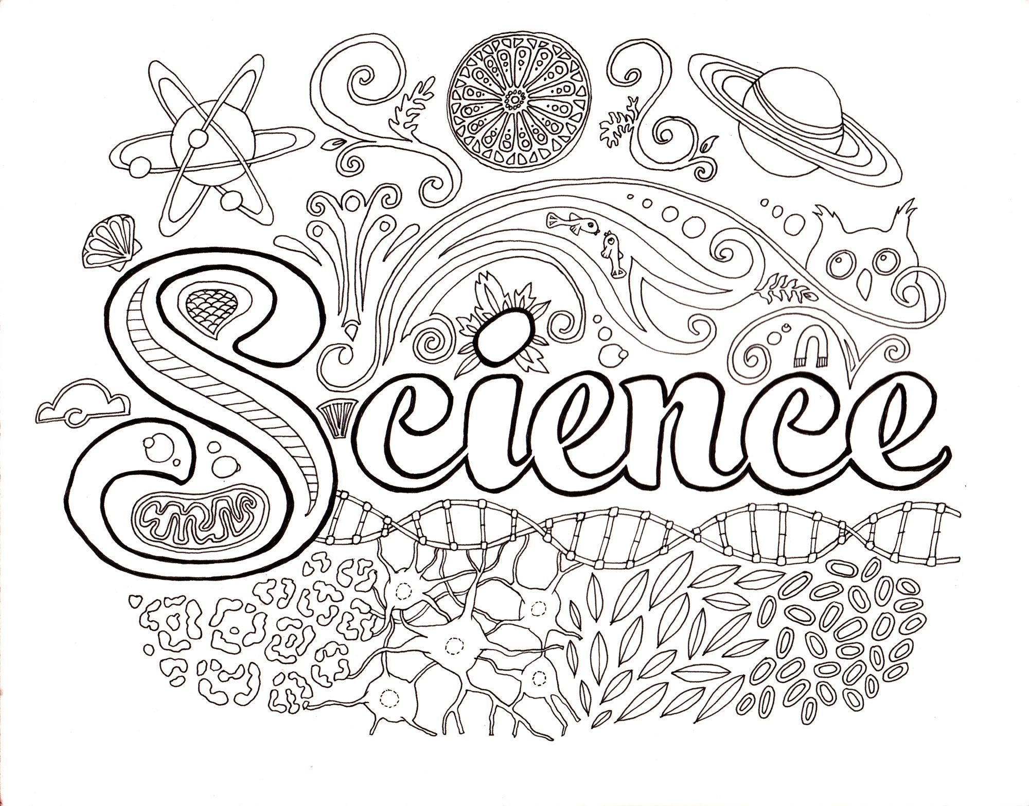 Science Coloring Pages #1