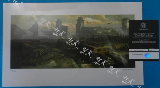 """Original lithographie """"ubisoft""""   By """"papayou"""" ! limited !"""