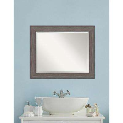 Country Barnwood Wood 34 In W X 28 H Distressed Bathroom Vanity Mirror Son S Bath Pinterest Mirrors Vanities And Wall Decor