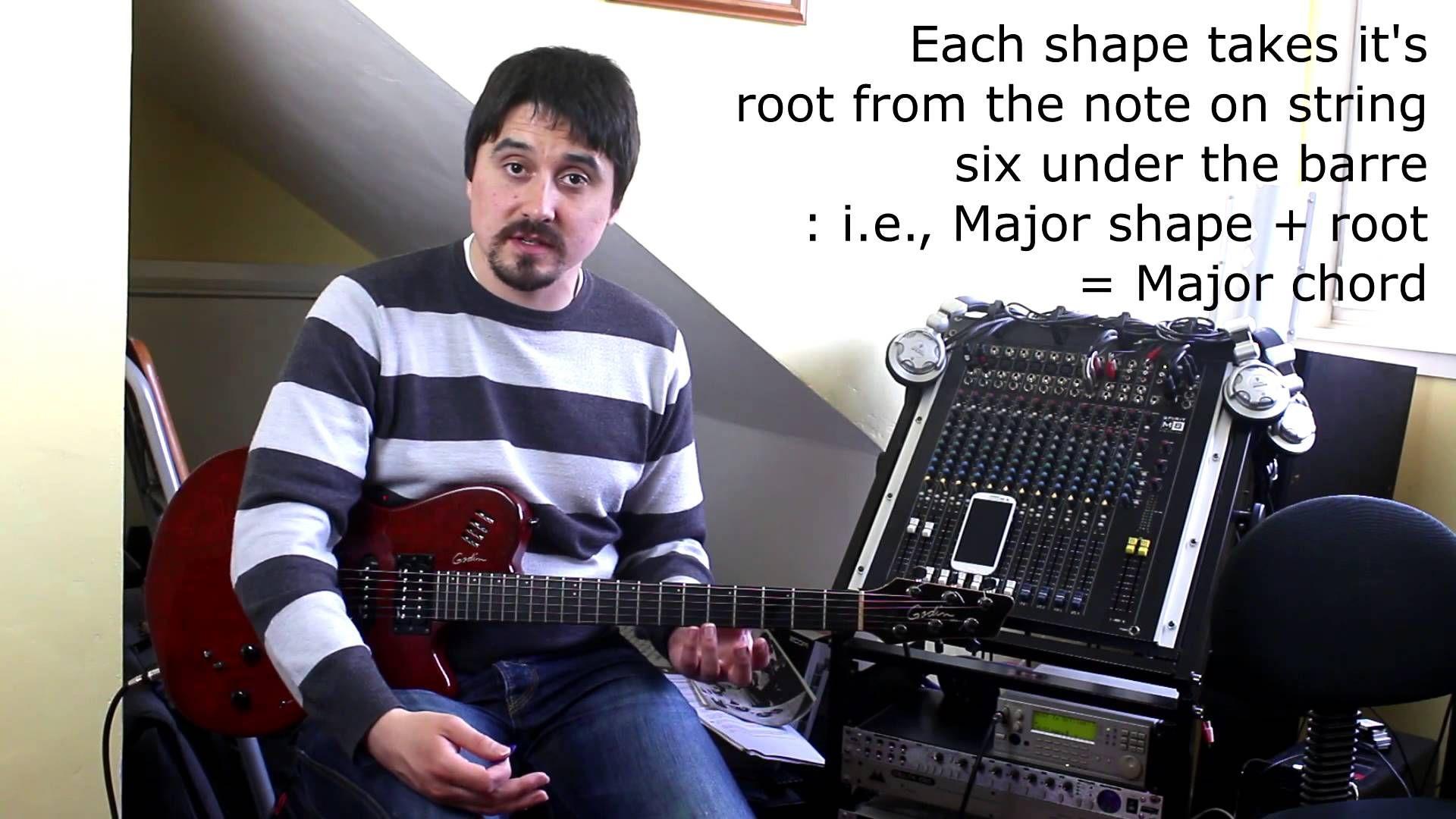 Barre chords 2 chord shape concepts guitar guitar