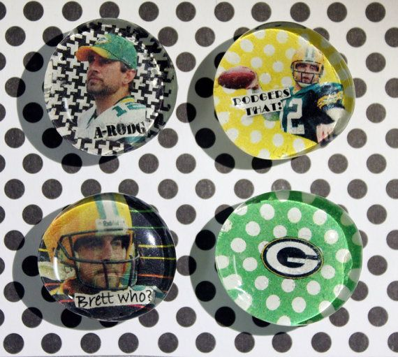 Aaron Rodgers-Green Bay Packer Magnets on Etsy, $10.00