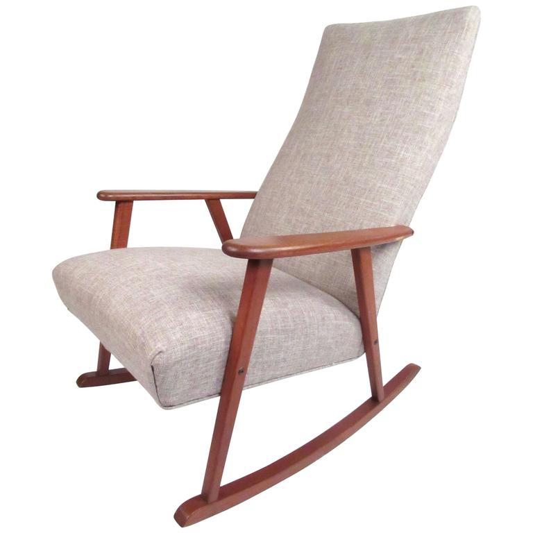 Mid Century Modern Danish Teak Rocking Chair Mid Century Modern Rocking Chair Modern Rocking Chair Teak Rocking Chair