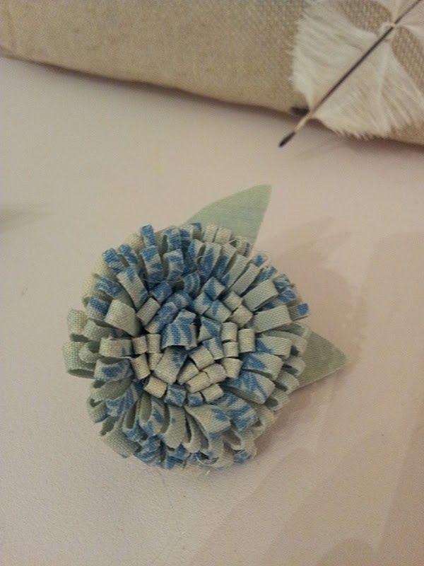 Diy easy Cut Fabric Flowers - Tutorial