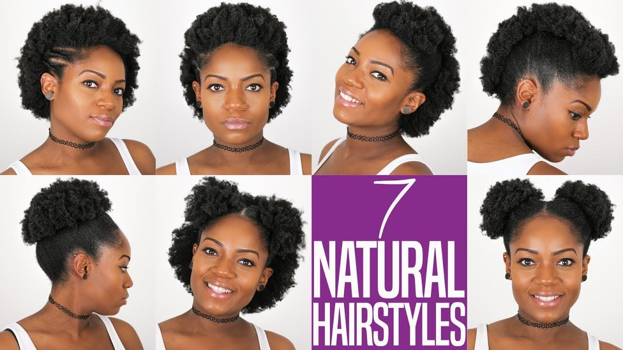 7 natural hairstyles for short to medium length 4b/c natural hair