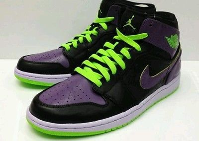 Big Discount 66 OFF Nike Air Jordan 1 Mens Electric Green Purple Black Night Vision Joker Shoes 5exS8