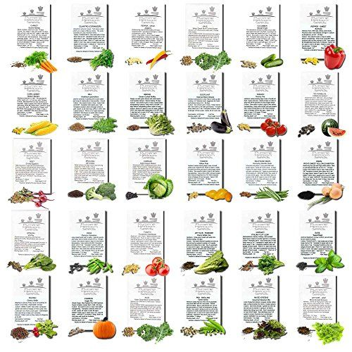 Heirloom Seeds Non GMO Organic Heirloom Vegetable Seeds for Planting Heirloomseeds Organic Garden Survival Gardening Seeds -- Check this awesome product by going to the link at the image.