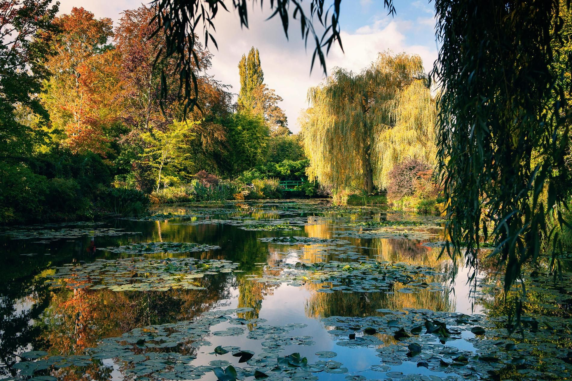 Step into Impressionist paintings on this French tour is part of Impressionist paintings, Lily painting, London photos, Tours, National geographic photography, Giverny - During spring, walk across the Japanese bridge in Monet's water garden