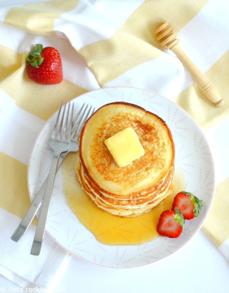 Easy Fluffy American Pancakes Del S Cooking Twist Recipe Pancake Recipe Easy American Pancakes Food