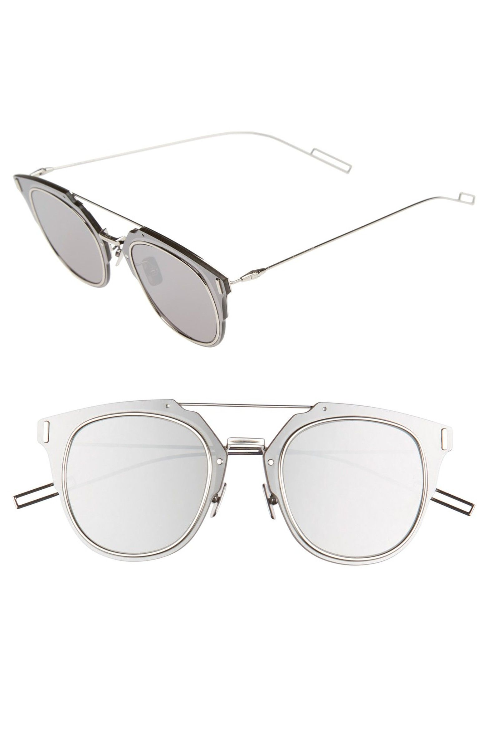 522d0c8de8 Main Image - Dior Homme 'Composit 1.0S' 62mm Metal Shield Sunglasses ...