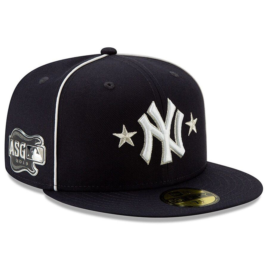 New York Yankees New Era 2019 Mlb All Star Game On Field 59fifty Fitted Hat Navy Fitted Hats Star Games New York Yankees