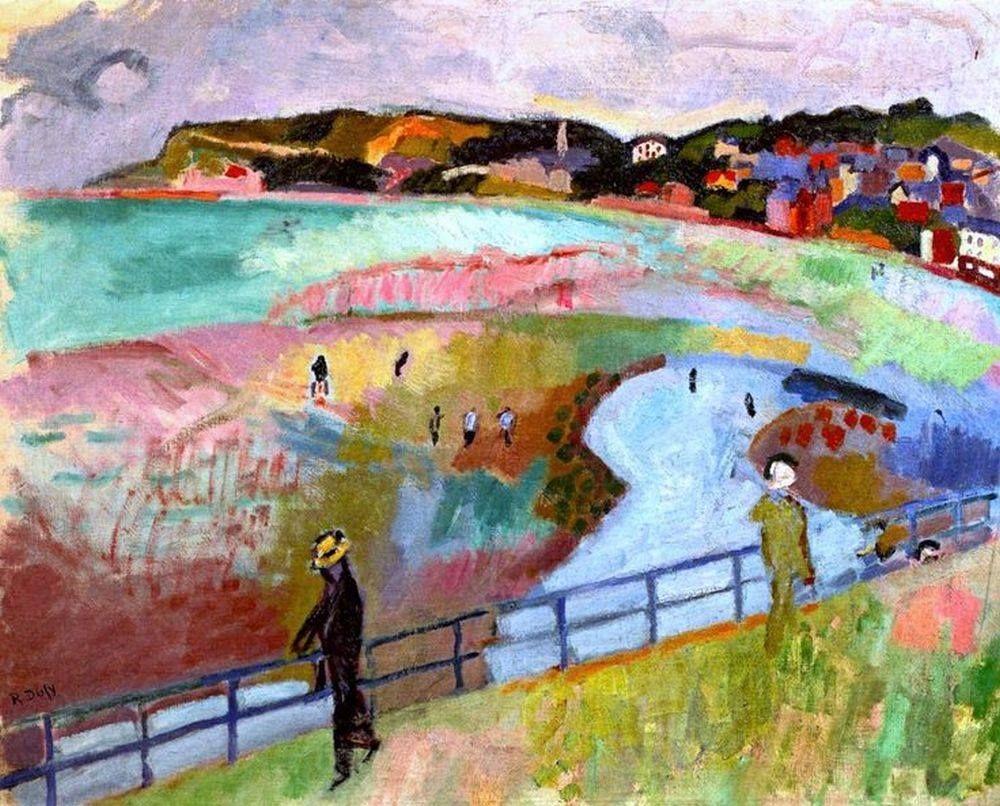 The Beach at Sainte-Adresse Raoul Dufy - 1906