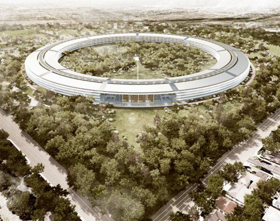 Rendering of future Apple Headquarters in Cupertino CA