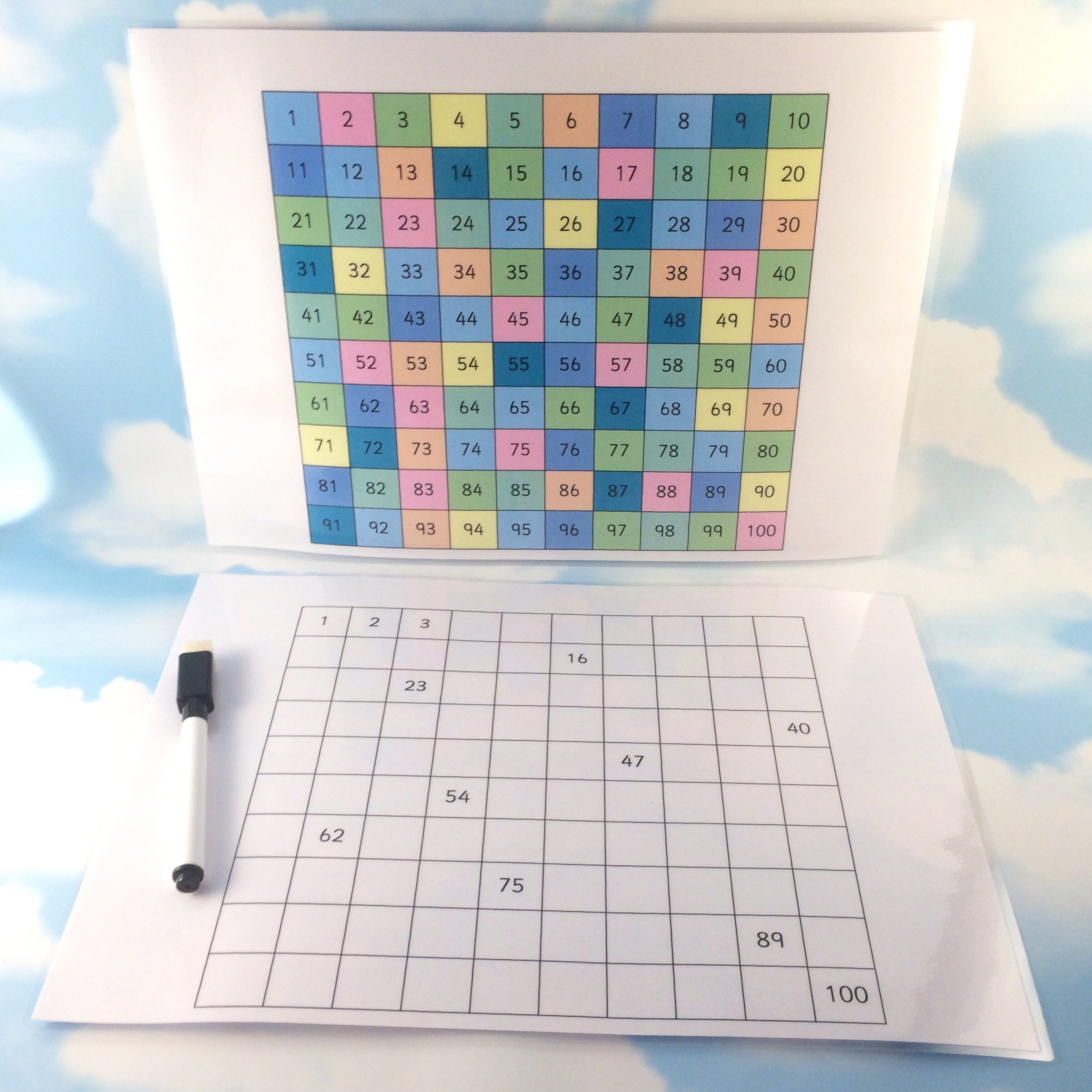 30 Worksheets Coloring A Grid 2 Reginald Penhorst