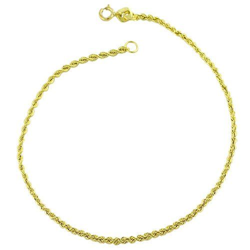 10 Karat Yellow Gold Hollow Rope Chain Bracelet 7 5 Inch Listing Price 67 99 Now 26 99 Free Shipping Yellow Gold Bracelet Chain Bracelet Rope Chain