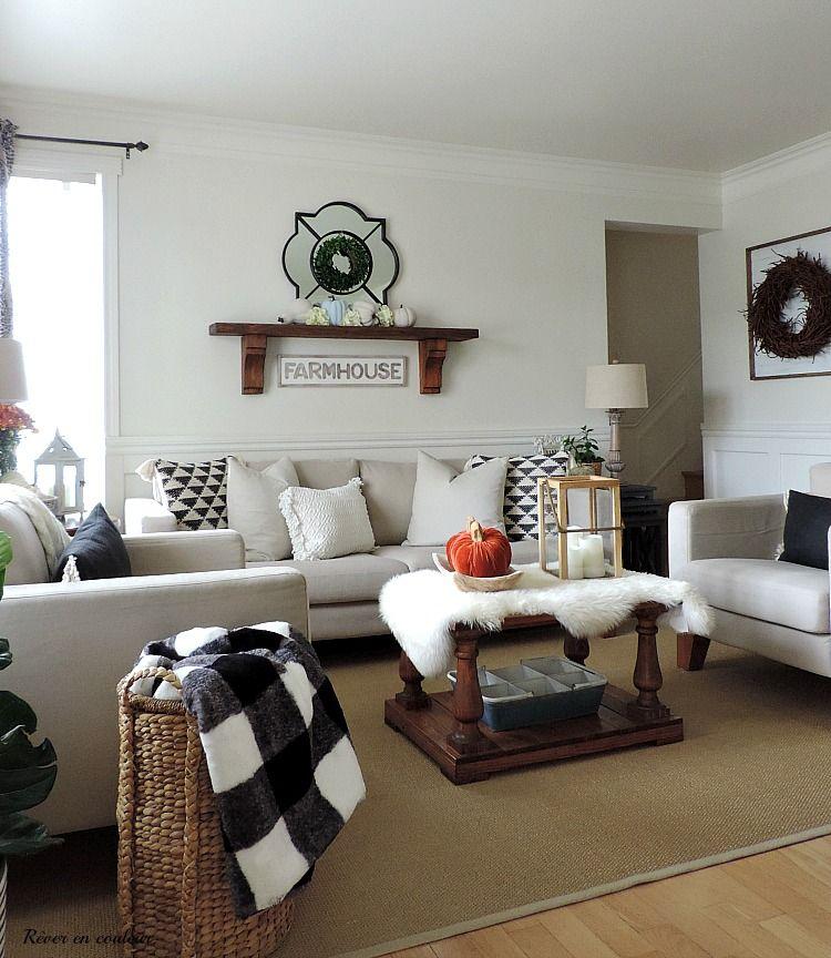 Mon salon décoré pour l\'automne | Modern daybed, Salons and Lego storage