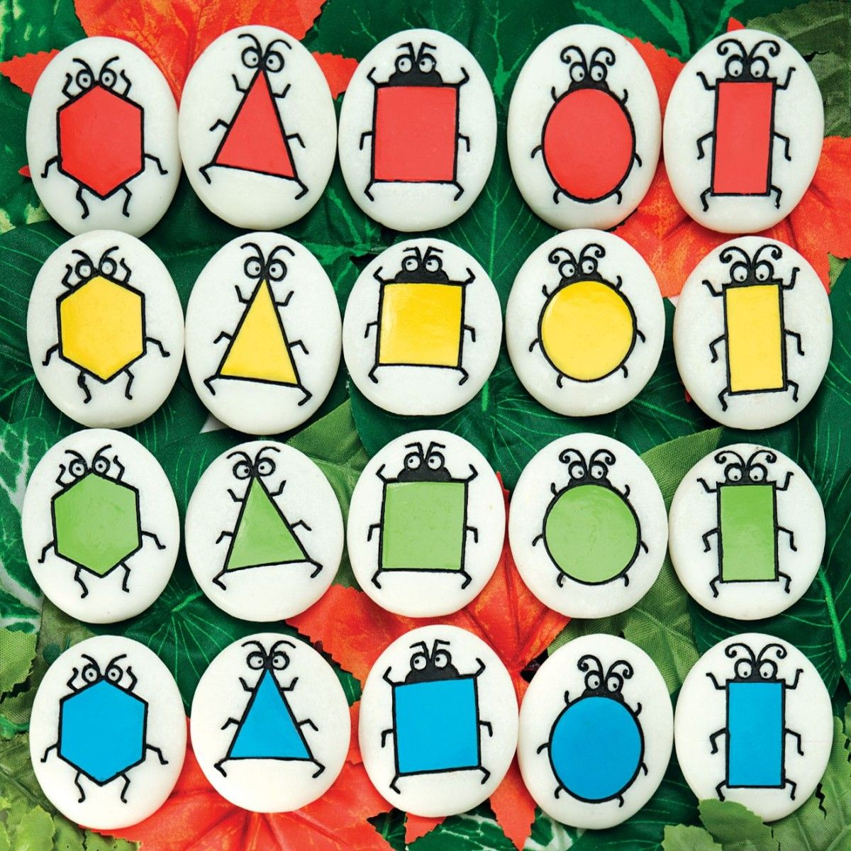 Sort and match these critters by color and shape characters. | Math ...