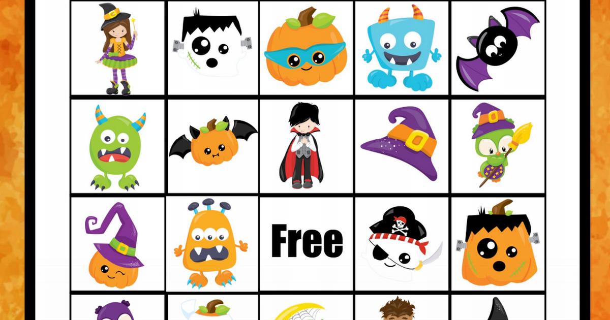 free_Halloween Bingo Game.pdf Halloween bingo, Halloween