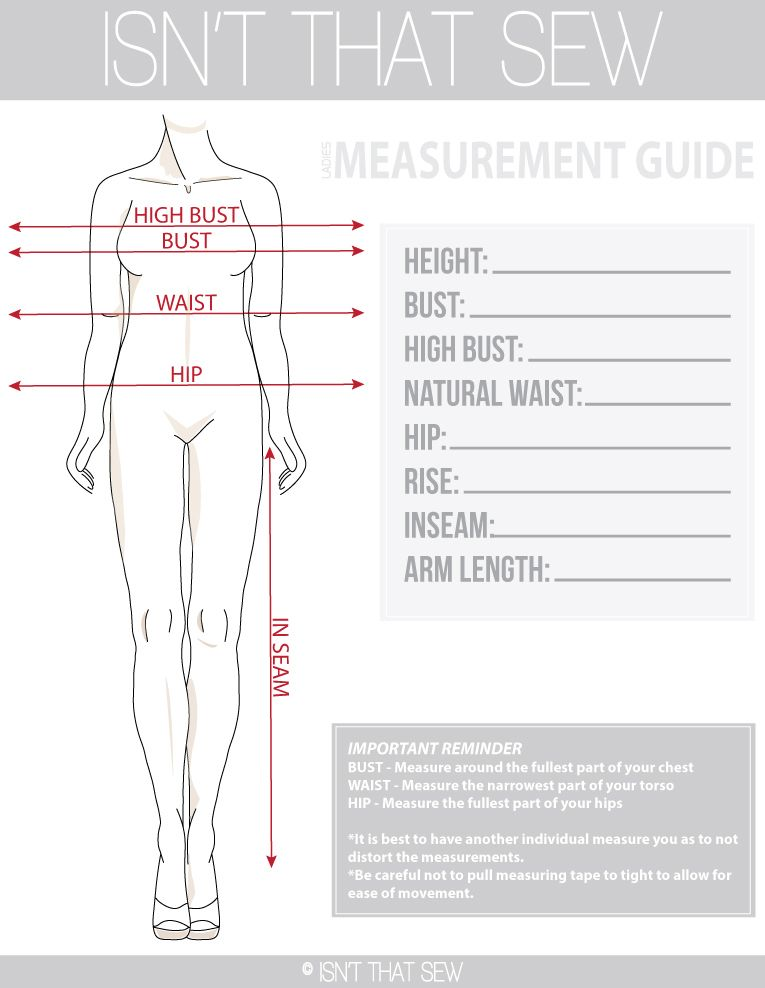 How To Take Accurate Measurements For Pattern Making Sewing Measurements Sewing Techniques Sewing Basics