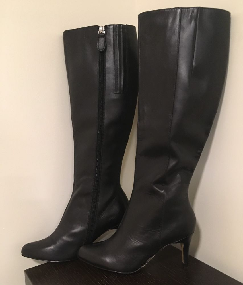 a095d87a226 NEW Siren Ladies Knee High Boots Size 6 1 2 Black Leather Stiletto Heel Zip  Side  fashion  clothing  shoes  accessories  womensshoes  boots (ebay link)