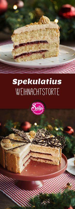 Spekulatius Weihnachtstorte mit Schokoladen Ornament | BACKEN MIT GLOBUS & SALLYS WELT #71