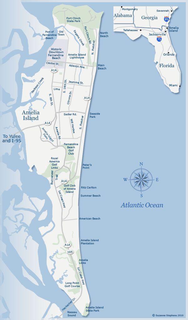 Amelia Island | Favorite Florida Pins | Amelia island ... on map of gasparilla island florida, map of merritt island florida, map of ponte vedra beach florida, map of big pine key florida, map of st. george island florida, map of pine island florida, map of orchid island florida, map of florida cities, map of anastasia island florida, map of okaloosa island florida, map of st. augustine florida, map of little torch key florida, map of st. simons island georgia coast, map of royal palm beach florida, map of dog island florida, map of captiva island florida, map of cayo costa florida, map of hutchinson island florida, map of anna maria island florida, large map of florida,